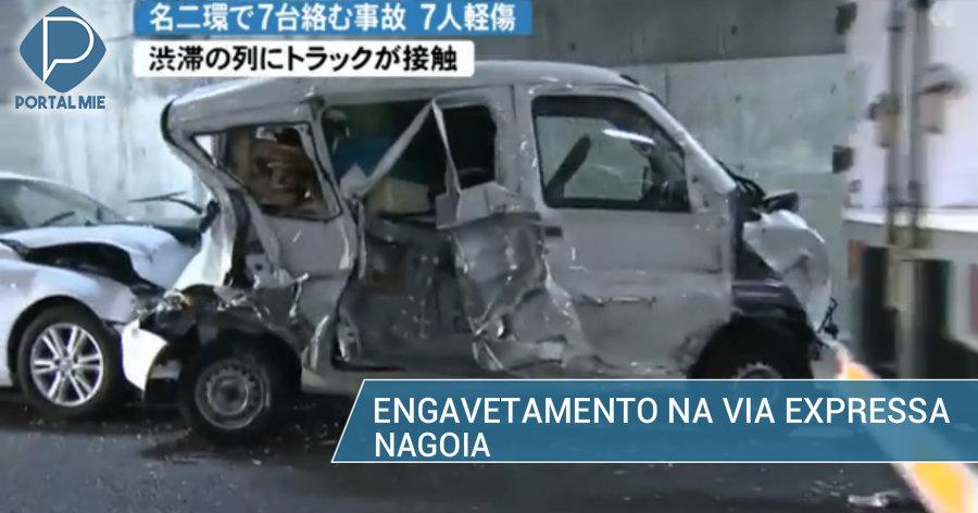 &nbspEngavetamento em Nagoia: 7 veículos e 7 feridos