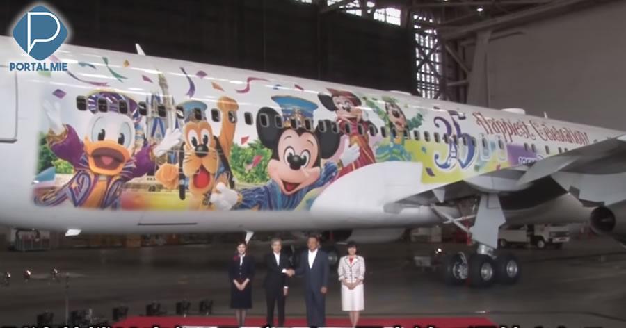 &nbspEmpresa aérea japonesa lança novo avião com tema da Disney
