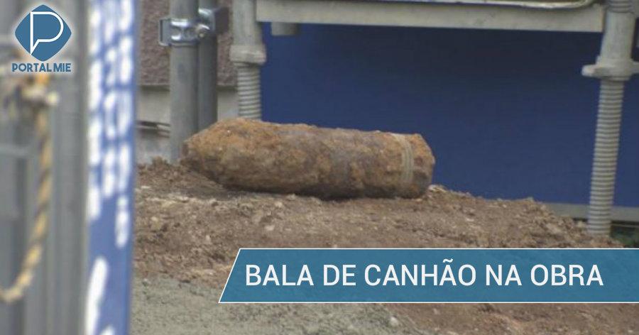&nbspBala de canhão não usada encontrada em Nagoia