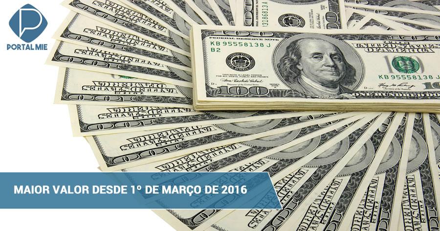&nbspDólar fecha em R$ 3,92, maior valor desde 1º de março de 2016