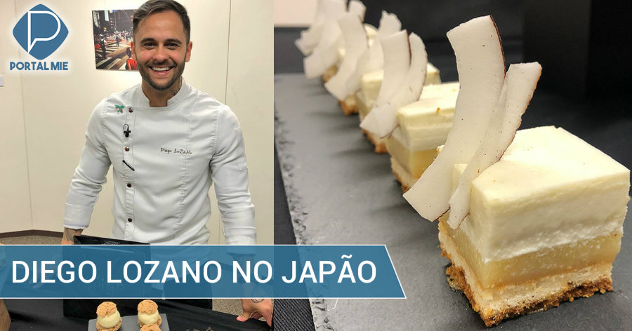 &nbspChef Diego Lozano, pâtissier brasileiro megafamoso, no Japão