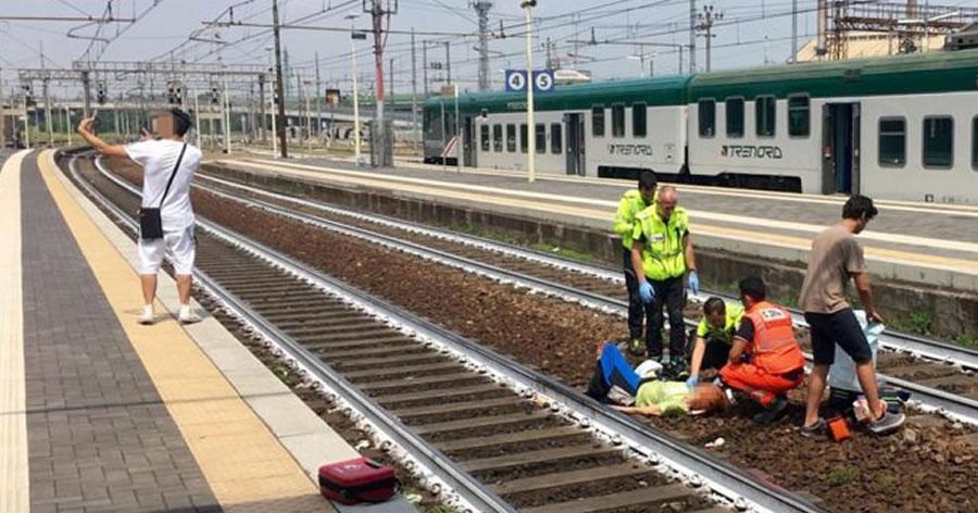 &nbspSelfie após acidente de trem revolta pessoas na Itália
