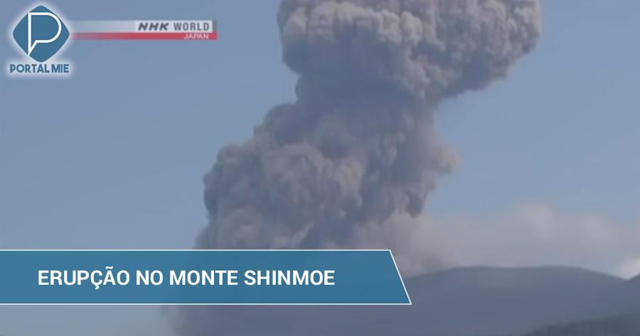 &nbspVulcão no sul do Japão entra em erupção