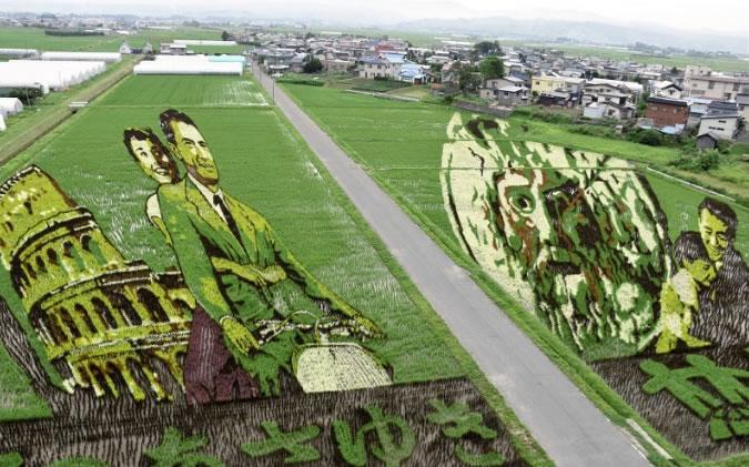 &nbspIncríveis obras de arte já tomam conta de arrozais em província no Japão
