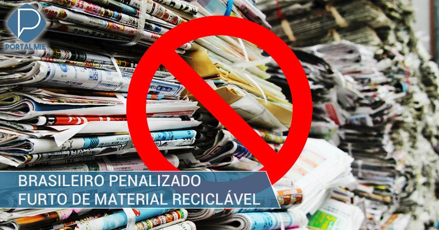 &nbspBrasileiro preso por furto de papéis recicláveis