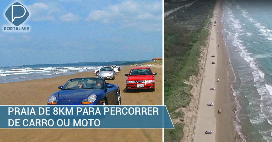 &nbspChirihama: praia para correr de carro ou moto