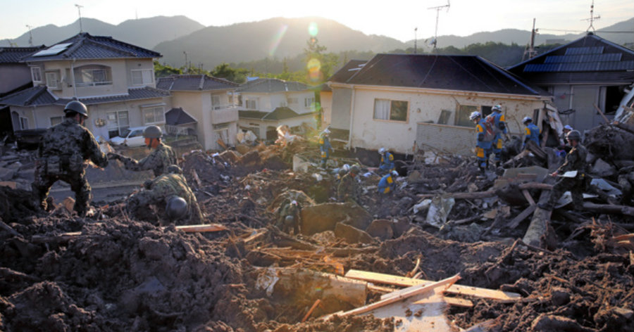 &nbspChuva histórica, causa dos 'desastres severos'