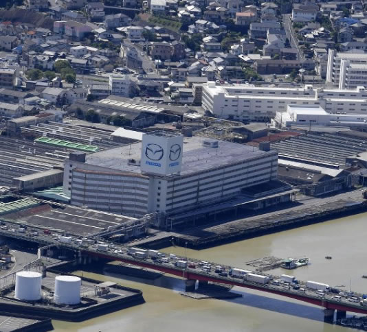 &nbspMazda retoma operações em fábricas após inundações