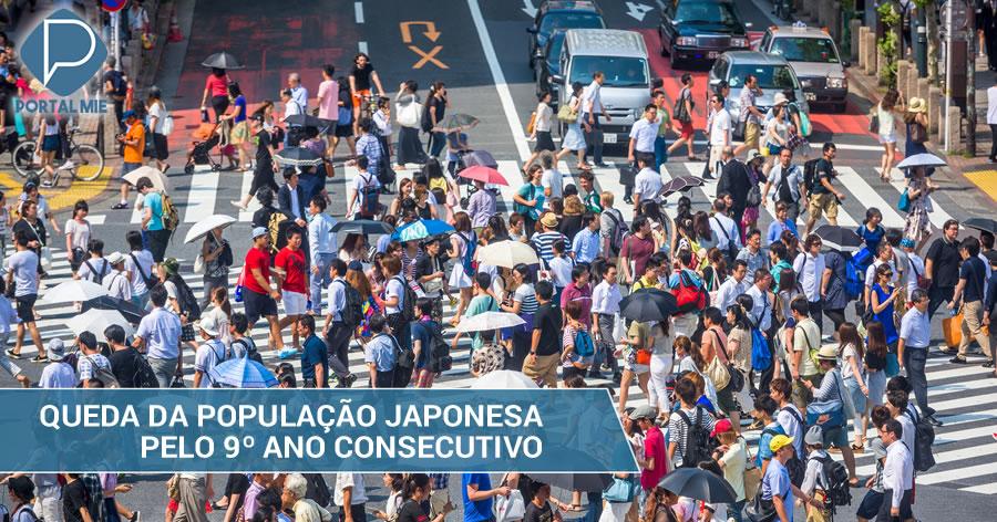 &nbspPopulação japonesa diminui pelo 9º ano consecutivo