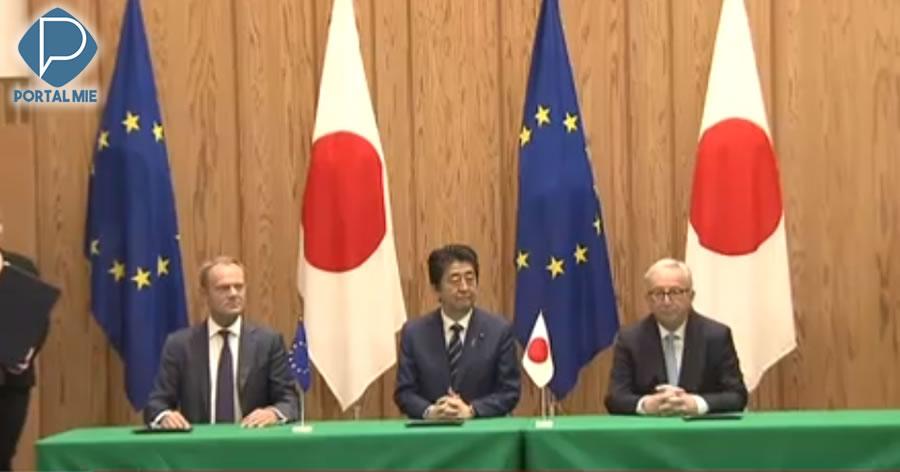 &nbspUnião Europeia e Japão assinam acordo de livre-comércio