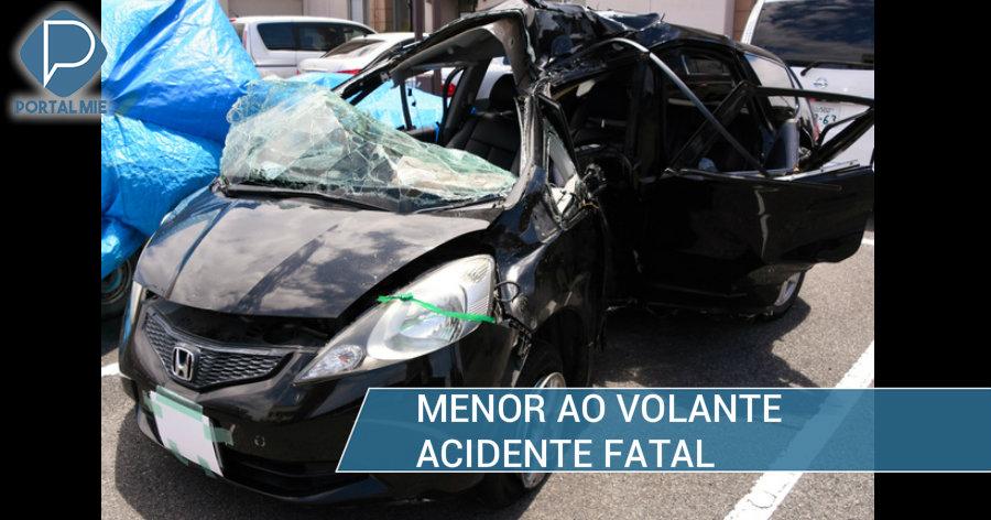 &nbspGaroto de 13 anos ao volante causa acidente fatal