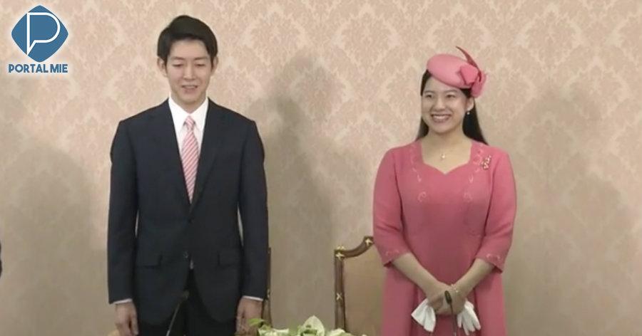 &nbspPrincesa Ayako se apresenta com o noivo
