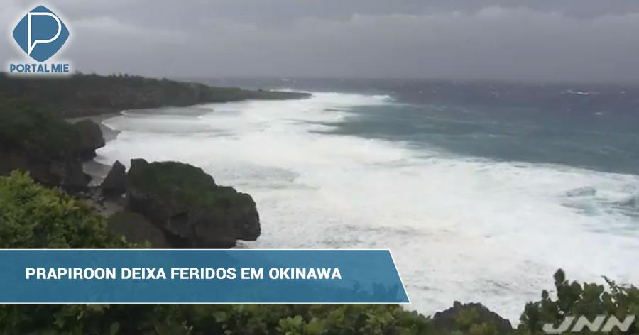 &nbspTufão Nº7 deixa feridos em sua passagem por Okinawa