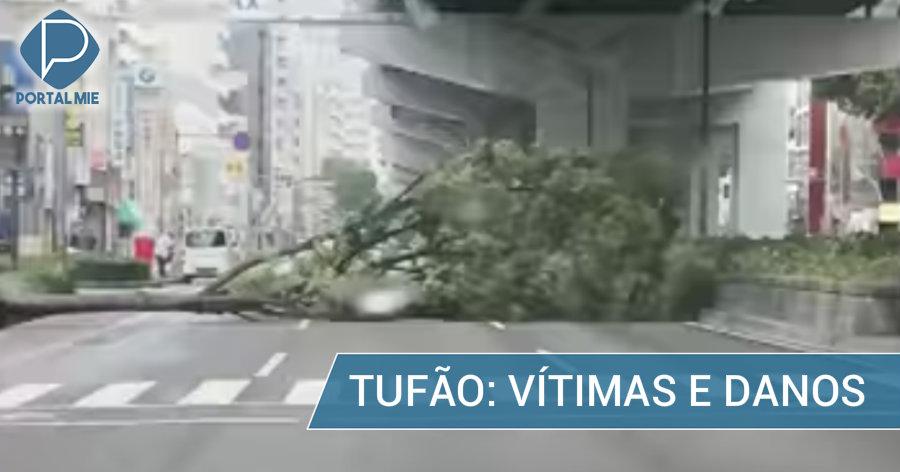 &nbspMais de 20 feridos, 1 morte e danos materiais por causa do tufão