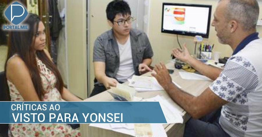 &nbspCríticas ao recém iniciado visto para yonsei