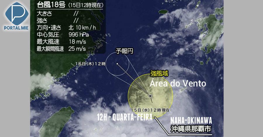 &nbspTufão número 18 se forma perto de Okinawa