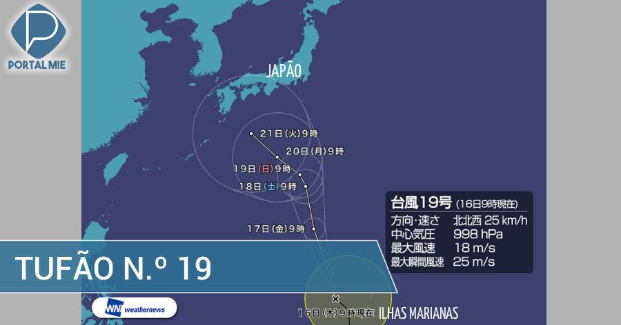 &nbspTufão n.º 19 poderá atingir parte do Japão