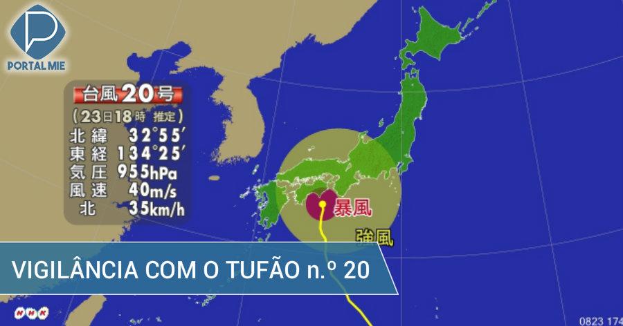 &nbspTufão n.º 20 sobre Shikoku: vigilância para chuva de 1.000mm