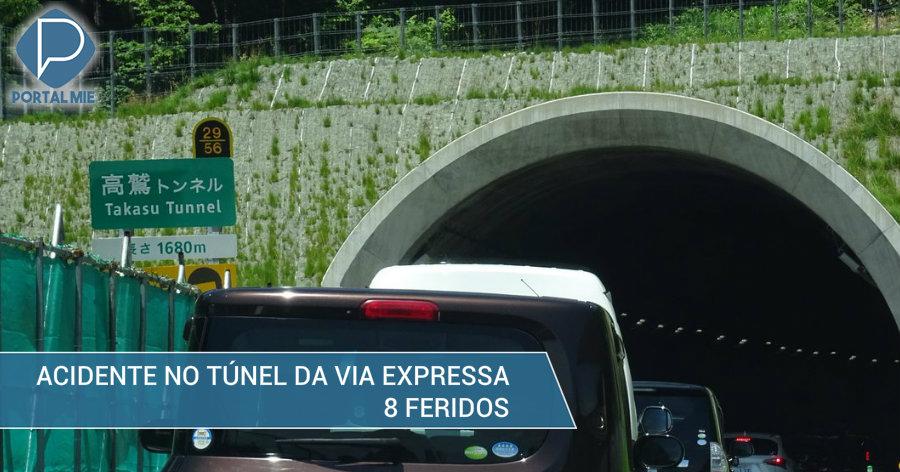 &nbspEngavetamento no túnel provoca 8 feridos