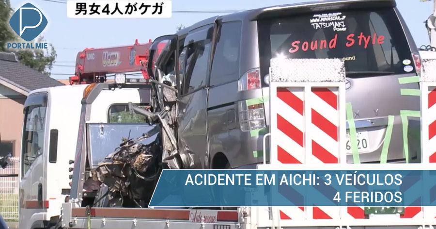 &nbspAcidente envolve 3 veículos e fere 4 em Aichi