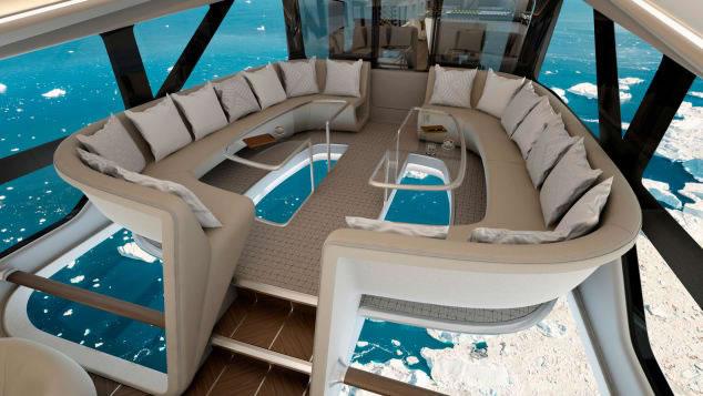 &nbspA maior aeronave do mundo tem quartos luxuosos e piso de vidro