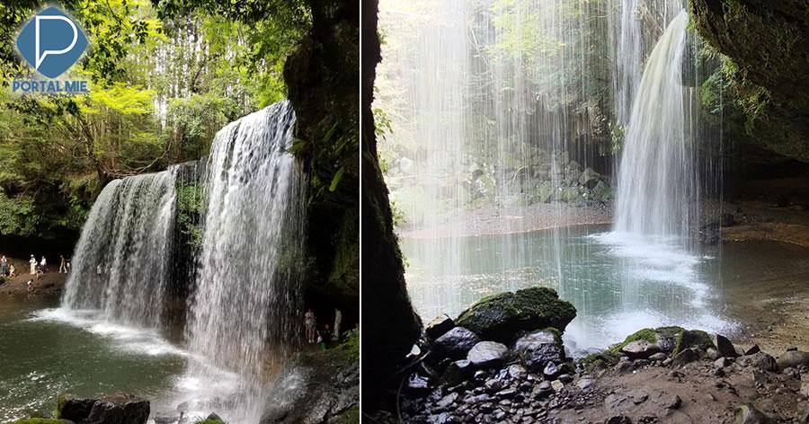 &nbspBela cachoeira em Kumamoto atrai muitos visitantes