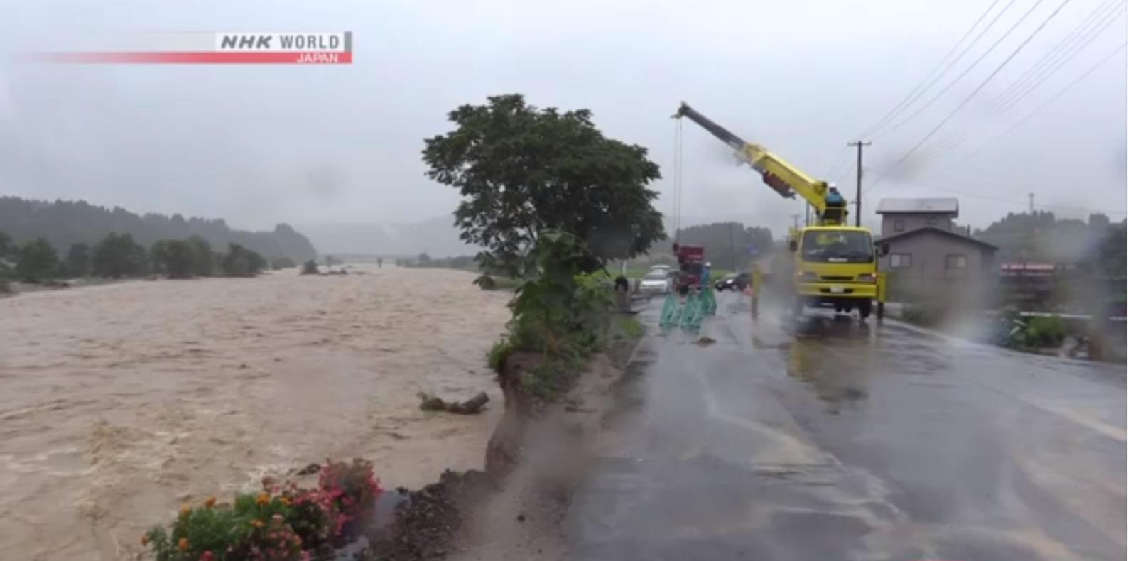 &nbspChuva intensa continua nas regiões central e nordeste do Japão