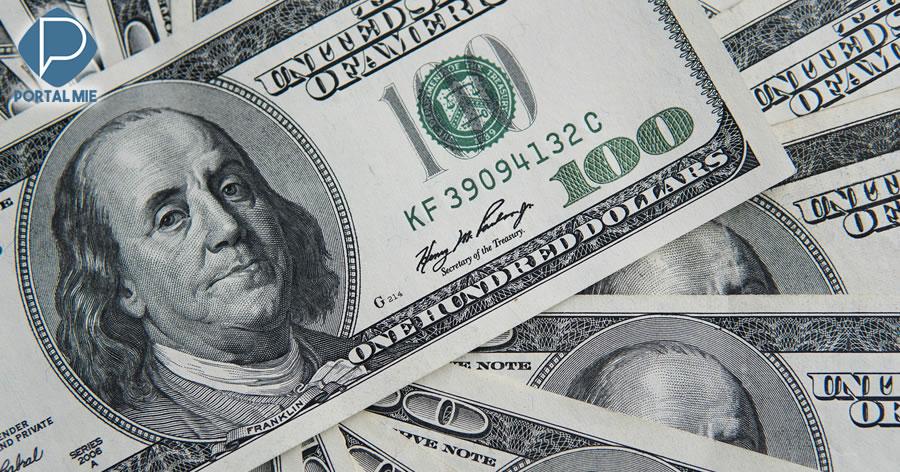 &nbspApós alta do dólar, BC atua e moeda fecha o dia cotada a R$ 4,14