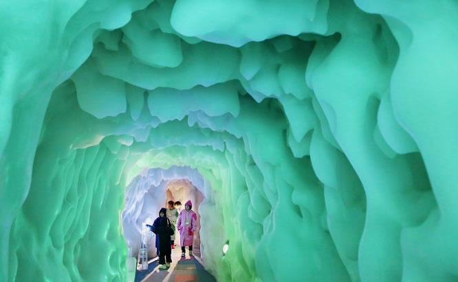 &nbsp'Pavilhão do Gelo' no norte do Japão atrai visitantes