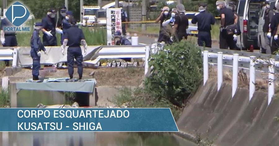 &nbspPartes do corpo são encontradas no canal em Shiga