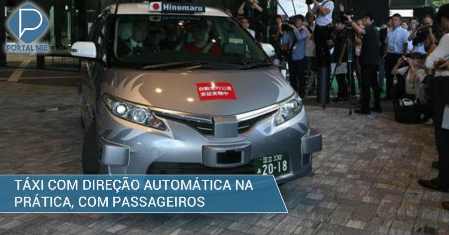 &nbspTáxi automático estreia em Tóquio: inédito no mundo