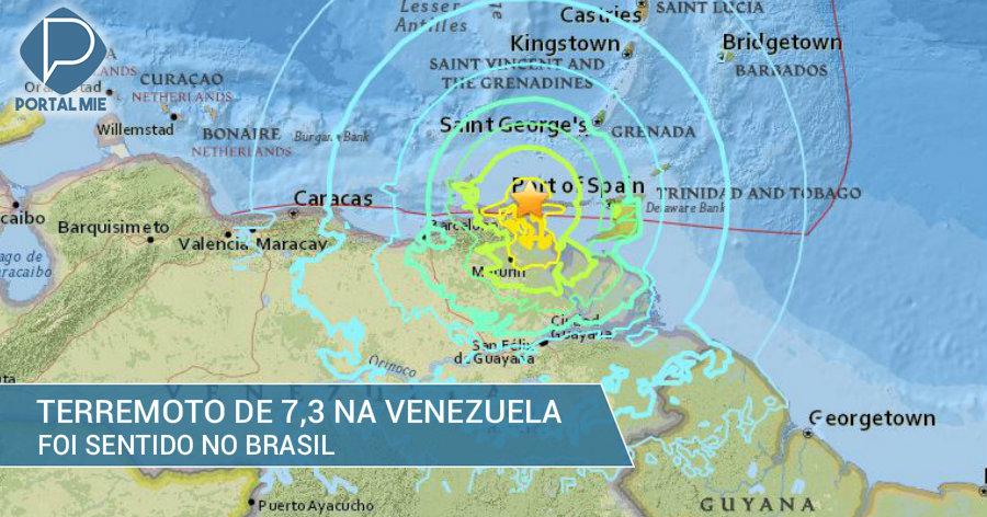 &nbspForte terremoto de magnitude 7,3 sacode Venezuela