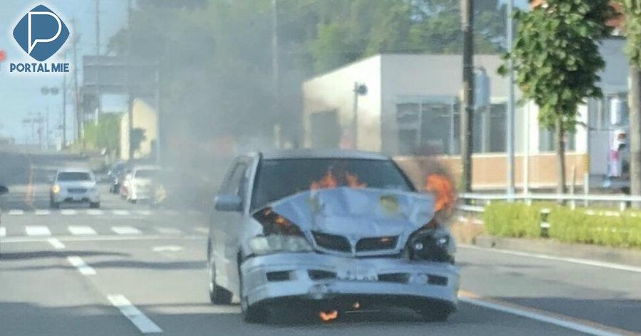 &nbspIncêndio no carro em movimento gera 1 morte, em Toyota