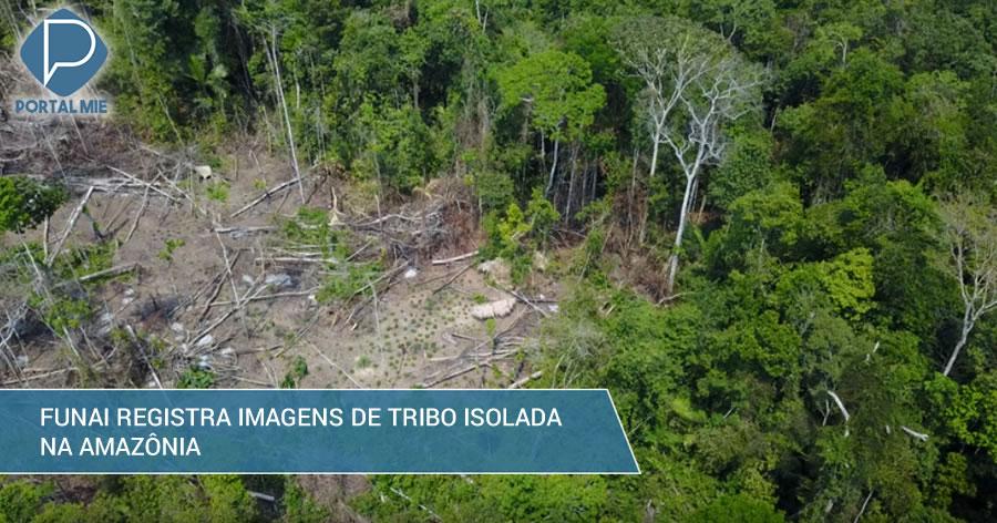 &nbspDrone registra imagens de tribo isolada na Amazônia