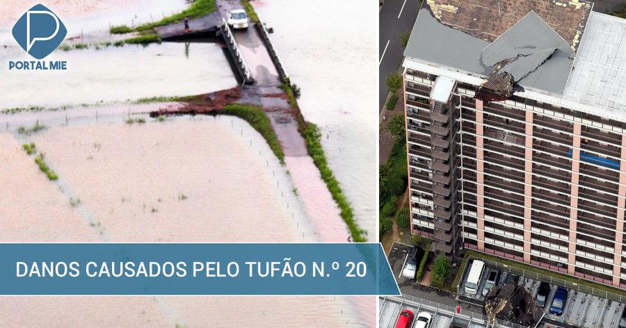 &nbspDanos causados pelo tufão n.º 20