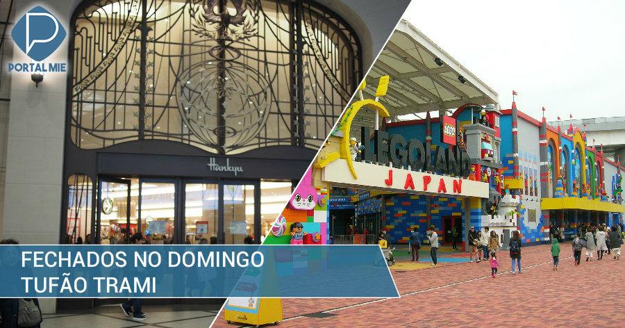 &nbspTufão Trami: parques temáticos e lojas de departamento fecham domingo