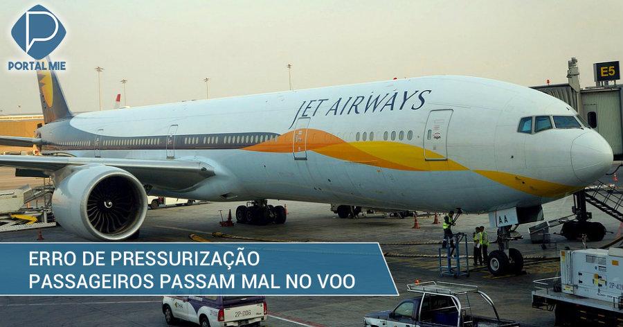 &nbspPassageiros passam mal dentro de avião por erro na pressurização
