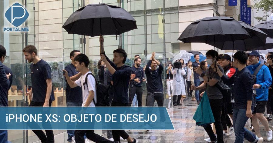 &nbspiPhone XS: os primeiros a ostentar, sob chuva