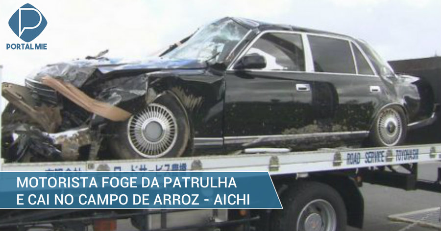 &nbspMotorista do carro de luxo foge da patrulha e cai no arrozal