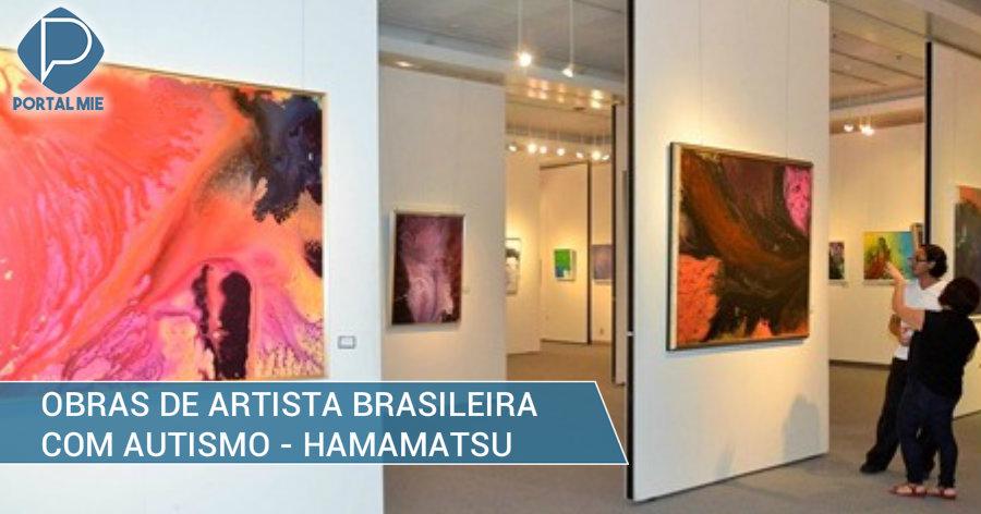 &nbspArtista brasileira de 10 anos com autismo expõe suas obras