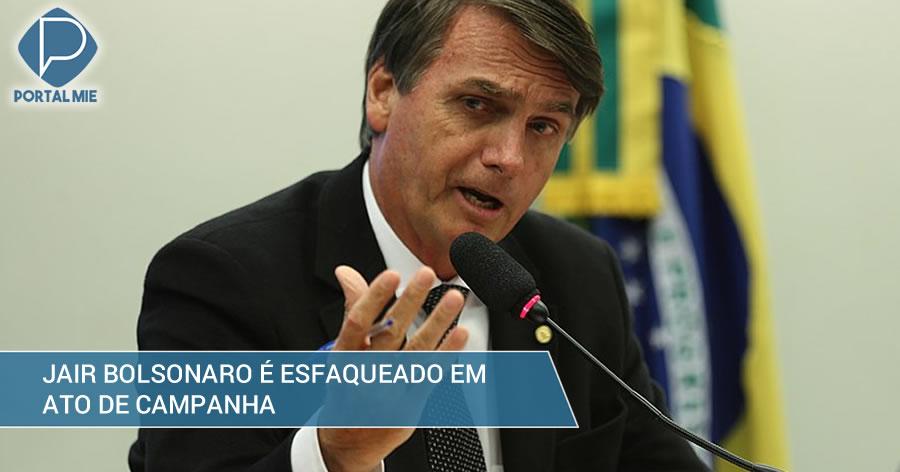 &nbspBolsonaro é esfaqueado durante campanha em Minas Gerais