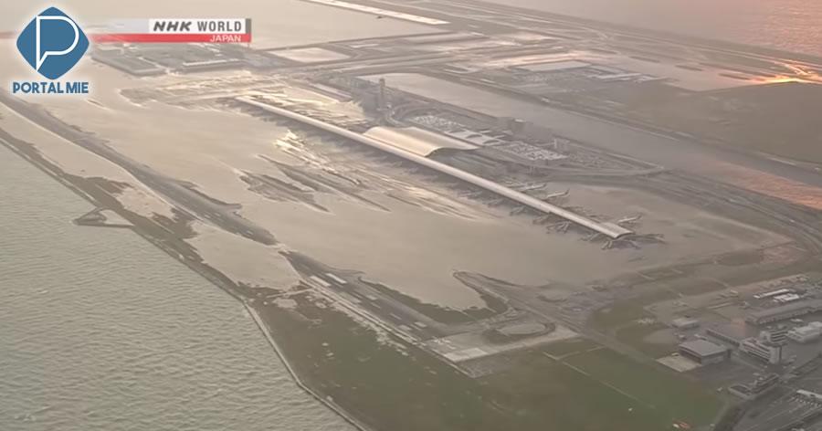 &nbspAeroporto de Kansai reabre pista que ficou inundada durante o tufão 21