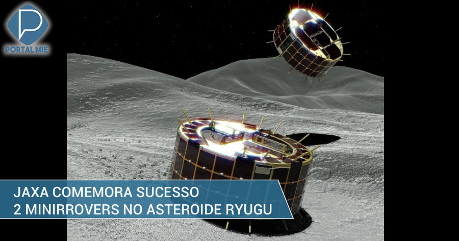 &nbspEspaçonave Hayabusa 2 lança dois mini rovers no asteróide Ryugu