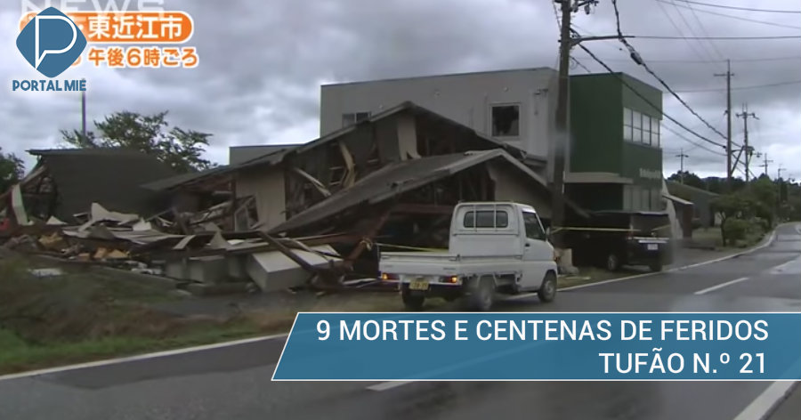 &nbsp9 mortes e mais de 300 feridos: tufão n.º 21