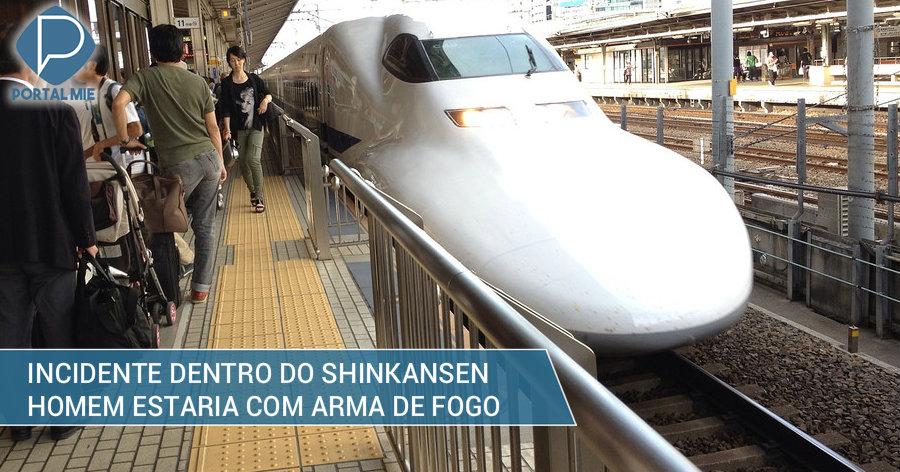 &nbspPoliciais revistam shinkansen para procurar arma de fogo