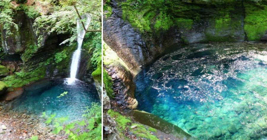 &nbspEfeito positivo do tufão em Tochigi: 'cachoeira da fantasia'