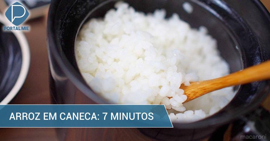 &nbspCaneca que cozinha arroz em 7 minutos