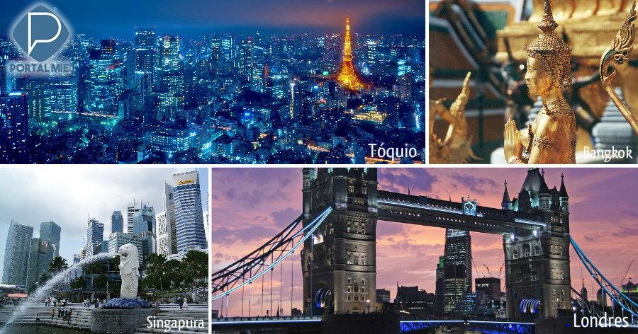 &nbspPesquisa mundial aponta 20 cidades mais visitadas do mundo