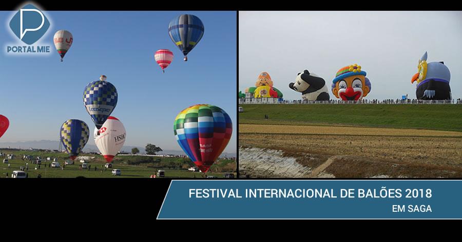 &nbspBalões colorem o céu no festival internacional 2018 em Saga