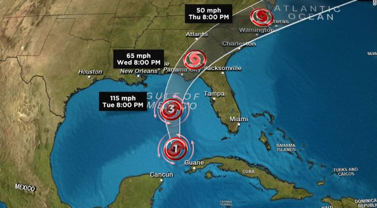 &nbspFuracão Michael: tempestade 'monstruosa' ameaça a Flórida